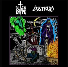 BLACK KNIFE / LUSTRUM - Split