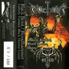 BLACK BEAST / BLOODHAMMER - Unholy Finnish Black Horror Union