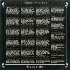 TYRANT - Lp Insert: Legions Of The Dead