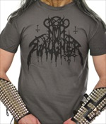 NUNSLAUGHTER - Hells Unholy Fire Logo (GREY T-Shirt)