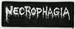NECROPHAGIA - Small Logo White