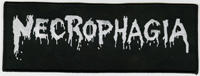 NECROPHAGIA - Logo White