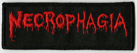 NECROPHAGIA - Small Logo Red