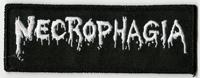 NECROPHAGIA - Small Logo White